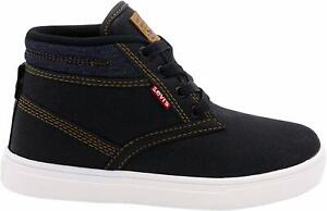 Levi's SYCAMORE Sneakers Boots (Little Kid's/Big Kid's) Denim Black/Navy (64A)