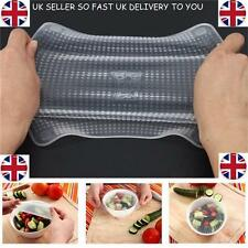 4pcs Silicone Reusable Food Wrap Seal Cover cling film stretch Fresh Saran Wrap