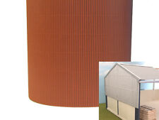 1:32 SCALE FARM DIORAMA BUILDING CORRUGATED CARD SHEET BROWN SUIT BRITAINS