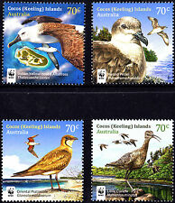 Cocos Islands 2015 Visiting Birds WWF Complete Set of Stamps MNH