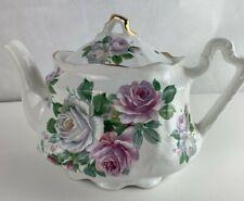 Vintage Arthur Wood & Sons Staffordshire England Rose Floral Teapot #6468