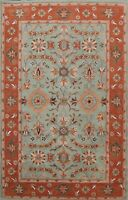 Traditional Floral Oriental Area Rug Living Room Hand-tufted Wool Carpet 6x9 ft