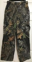 Mossy Oak size S black grey beige camouflage cargo hunting pants mens