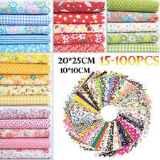 100% Mixed Cotton Fabric Material Joblot Value Bundle Scraps Offcuts Quilting UK