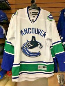 Vancouver Canucks Reebok Premier Blank Away Jersey! NHL Licensed Apparel Fan RBK