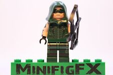 Lego GREEN ARROW Custom Minifig DC Superhero Justice League Oliver Queen CW