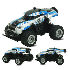 1/58 Mini Remote Control RC 4CH Racing Car Off-road Buggy Black Light Toy Blue