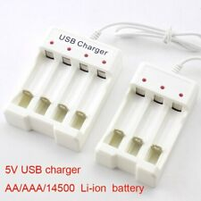 USB ranura de carga rápida 3/4 Li-Ion Batería Cargador Para Batería AA/AAA 14500 1.2V