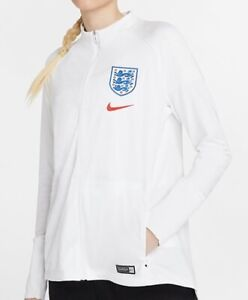 Nike England Ladies Football Jacket Sweater White Red Blue Size M Or XL New