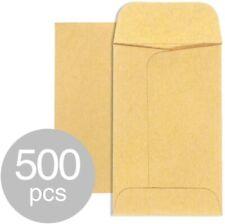 Kraft Coin Envelopes w/ Gummed Flap for Coins Jewelery Seeds #1/#5/#7 - 500 Pack
