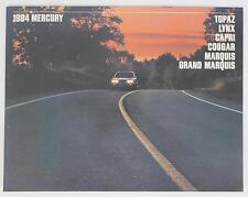 Mercury 1984 Topaz Lynx Capri Cougar Grand Marquis Sales Brochure / Literature