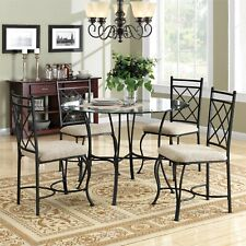 Dining Room Table Set Round Glass Kitchen Tables And Chairs Sets Modern 5 Piece