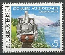 Austria 1989 MNH - Transport - Achensee Steam Rack Cogwheel Railway Locomotive