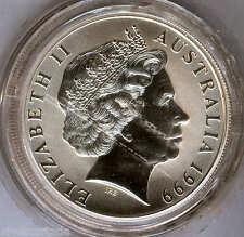 Australia 1999 1 dolar 1 onza plata pura CANGURO