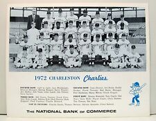 1972 CHARLESTON CHARLIES Team Photo.  IL Triple AAA minor league baseball