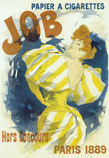 ART Deco JOB CARTINE SIGARETTE Parigi 1889 A3 Stampa Artistica Poster