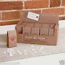 wedding just my type brown paper biodegradable tissue box of 20 confetti