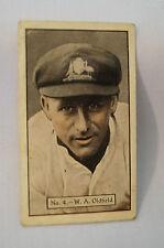 ALLENS - 1930's - Vintage Cricket Card - W.A. Oldfield - N.S.W.
