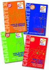 Diet Health Fitness Flexibility Weight Loss Heart Core exercise - Set of 4 Books
