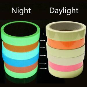 Glow In The Dark Sticky Tape Self Adhesive Luminous Safety Film Sticker Roll UK