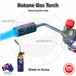 Butane Gas Blow Torch Camping BBQ Flame Fire Gun Manual Welding Soldering Korean