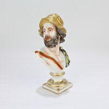 Antique Capodimonte Porcelain Bust Of Mars - War God Ares Meissen Roman - PC