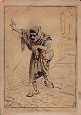 Alphonse Lévy. Vieille juive d'Alger. Encre et lavis d'encre. Vers 1880. Judaïca