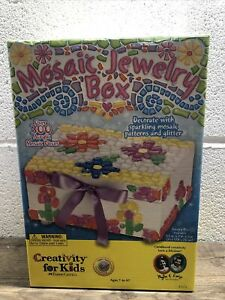 NEW Creativity for Kids Mosaic Jewelry Box Craft Kit by Faber-Castell Art
