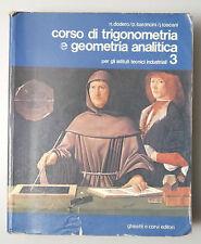 (PRL) CORSO TRIGONOMETRIA GEOMETRIA ANALITICA 3 SCUOLE MEDIE ISTITUTI TECNICI
