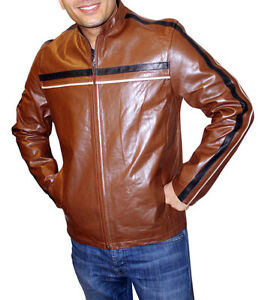 Men's Brown Buffalo Leather Zipper up Jacket, SPECIAL PRICE $119.99 Style#1185