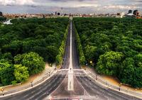 BERLIN SIEGESSAULE TIERGARTEN NEW A3 CANVAS GICLEE ART PRINT POSTER FRAMED