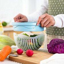 Salad Cutter Bowl Vegetable Easy Make Healthy Fresh Salad ~ Blue