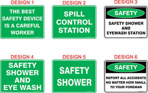 Emergency First Aid Safety Signs, Stickers / Corflute / Metal.  OHS work Signage