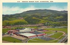 Elizabethton Tennessee~American Bemberg Plant~Parchute Rayon~1940s Postcard