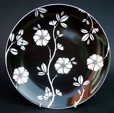 Johnson Brothers Stylized Black & White Floral Salad or Dessert Size Plates 20cm