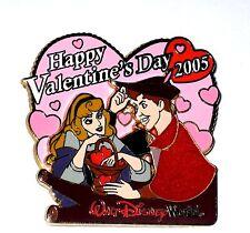 LE Disney Pin✿Aurora Sleeping Beauty Valentine's Day Prince Phillip Briar Rose