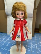 Vintage Betsy McCall, 8 inch, Cute Pennie Bright Red Outfit