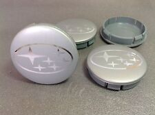SUBARU Cache Moyeux Centres de Roue Chrome Emblem 4p x 60mm/55mm  *NEUF*