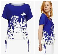 ex Phase Eight Blue Fabiola Print Versatile Top