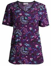 "New listing Scrubstar Women's ""Lovely Paisley� V-Neck Print Scrub Top - Size 2Xl"