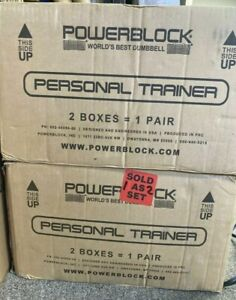 PowerBlock Personal Trainer Set(Pair) 5 to 50 Pounds per Dumbbell Ready To Ship!