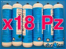 18 Bombola gas co2 600 gr E290 monouso gasatore acqua frizzante birra valv. 11x1