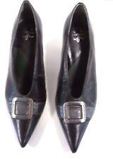 Escarpins ♥ KARSTON ♥ Pointure 37 chaussures trotteurs talons cuir noir femme