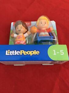 Fisher Price ~ Little People Mia & Josh Basketball Wheelchair Figure Set NEW
