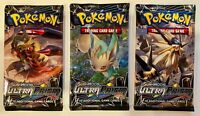 3 Pokemon TCG Card Packs: Three Ultra Prism (2018) Sealed Booster Packs