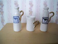 1:12 Miniatur  Milchkanne mit Becher - für Küche / Kaufladen - (01)