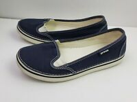 Crocs Hover Navy Canvas Sneaker Women's Size 6