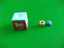 8mm Snooker/Pool cue Brass Ferrule with Elkmaster Tip and Masters Chalk