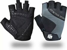 Fit Active Max Grip Weightlifting Workout Gloves | Strongest Small, Grey