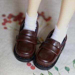 Dark Coffee Flats Shoes Unisex For 1/6 11inch tall BJD Doll AOD AS YOSD Doll